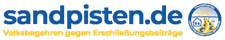 sandpisten.de - Volksbegehren gegen Erschließungsbeiträge